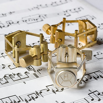 Francois Louis Ligatuur Saxofoon Bariton XL PB Silver
