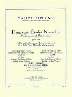 200 études Nouvelles Mélodiques et Progressives - Maxime Alphonse
