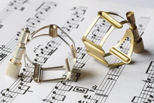 Francois Louis Ligatuur Saxofoon Tenor L Basic Silver