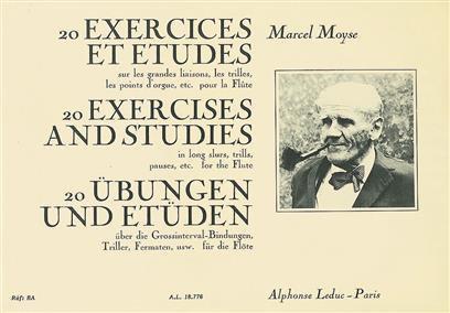 20 Exercises et Etudes sur les grandes liaisons, - Marcel Moyse
