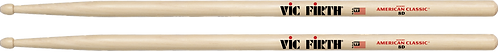 Vic Firth Drumstokken American Classic HickoryHouten Tip 8D