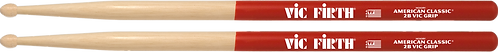 Vic Firth Drumstokken American Classic HickoryVic Grip Houten Tip 2B