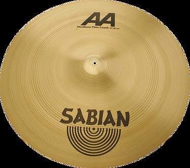 """Sabian Cymbaal AA Crash 18"""" Medium Thin Brillante"""