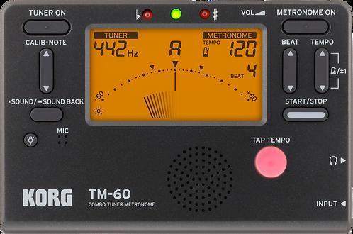 Korg Combo Tuner Metronoom TM-60 Zwart