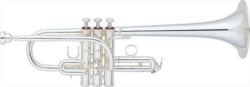 E/Eb Trompet Yamaha Custom Serie YTR-9635 - Uitvoering: verzilverd