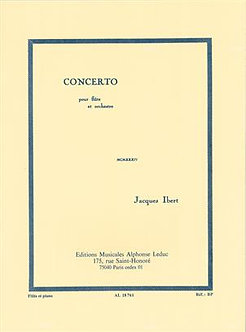 Concerto For Flute And Orchestra - Jacques Ibert