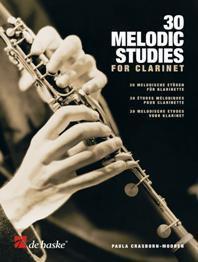 30 Melodic Studies for Clarinet - Paula Crasborn-Mooren