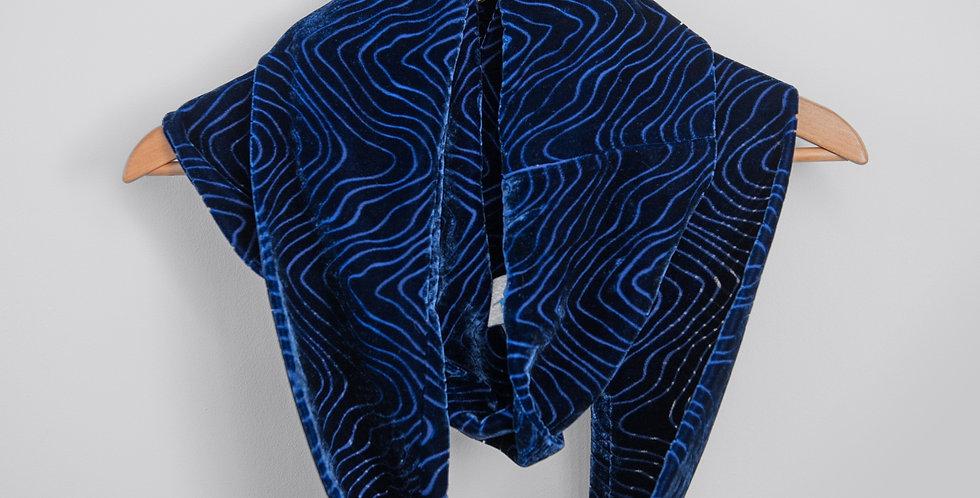 Royal Blue - Silk velvet infinity scarf