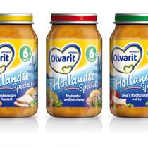 Olvarit Baby Food packaging part of Danone Group