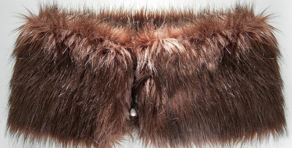 Brown Faux Fur Muff