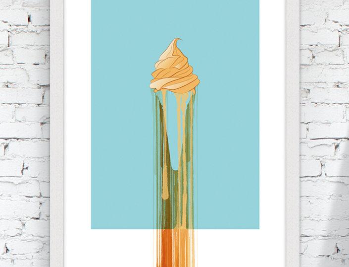 Brit Ice Giclee print