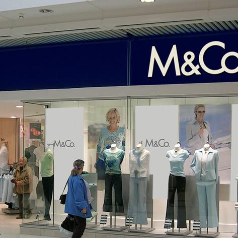 M&Co. fashion retailer branding