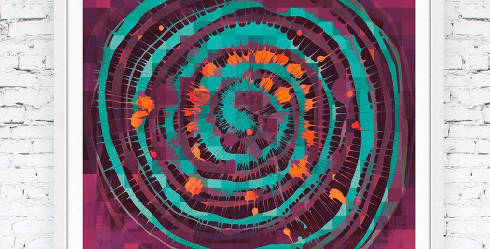 'Together' Purple, Mint & Orange