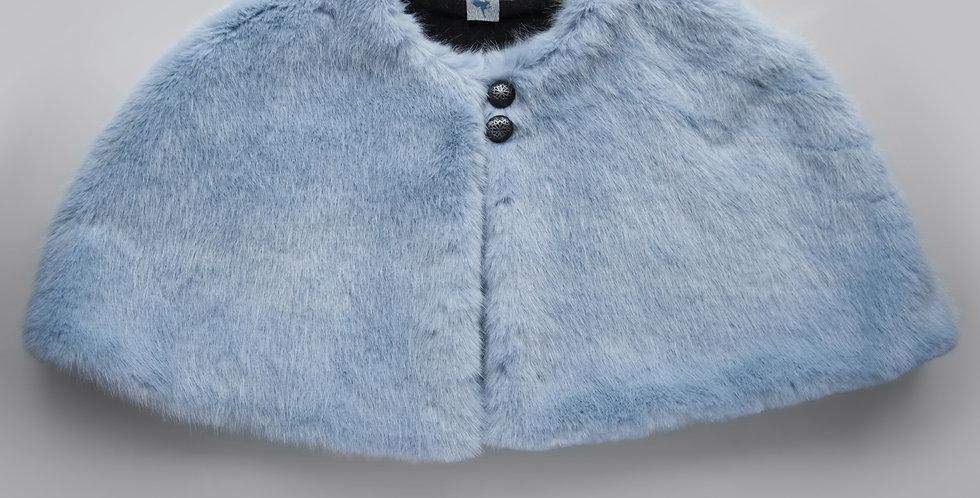 Blue Faux Fur Cape