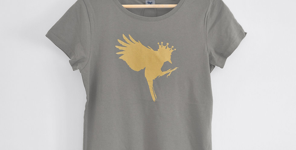 Taupe classic fitted T Shirt
