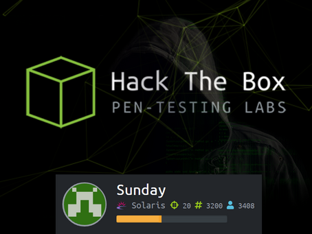 Hack The Box: Sunday