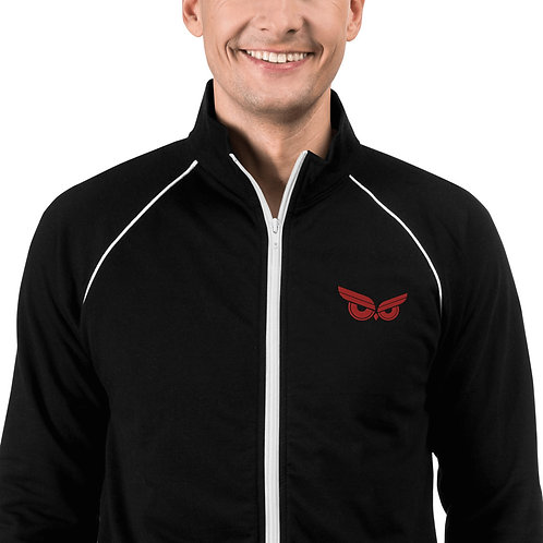 Moziah Executive Red Owl Piped Fleece Jacket