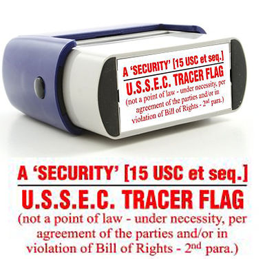 Security USSEC Tracer Flag Stamp