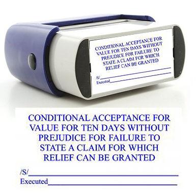 CAFV 10 Days w/out Prejudice Stamp
