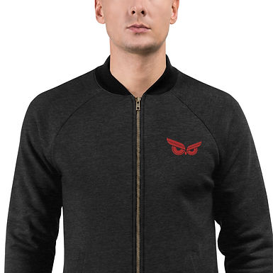 Moziah Signature Red Owl Unisex Bomber Jacket
