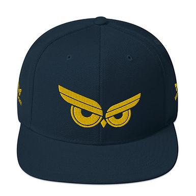 Moziah Signature Gold Owl Snapback Hat
