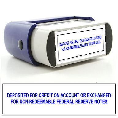 Deposited For Credit on Account Stamp