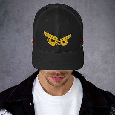 Moziah Gold Owl Trucker Cap