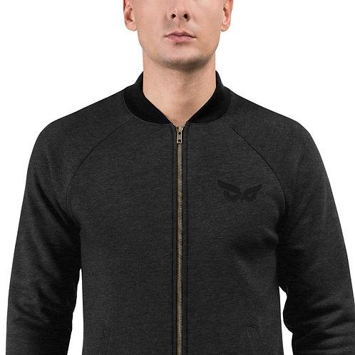 Moziah Signature Black Owl Unisex Bomber Jacket