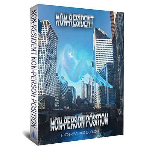 Non-Resident Non-Person Position (2 Book Set)