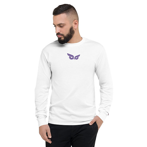 Moziah Purple Rain Cntr Men's Champion Long Sleeve Shirt