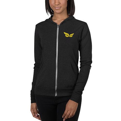 Moziah Gold 6 Feet Unisex zip hoodie