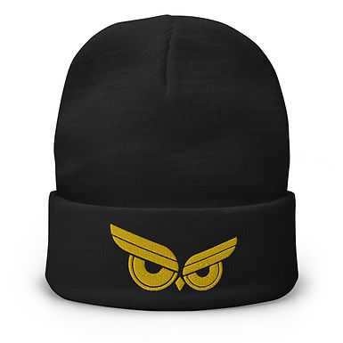 Moziah Signature Beanie Gold Owl