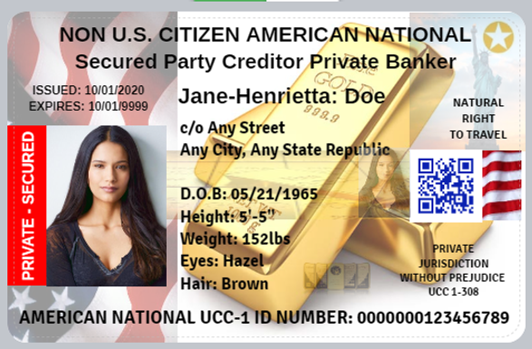 Secured Party Creditor Private Banker GLOBAL ID