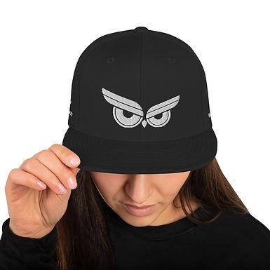 Moziah Signature White Owl Snapback Hat