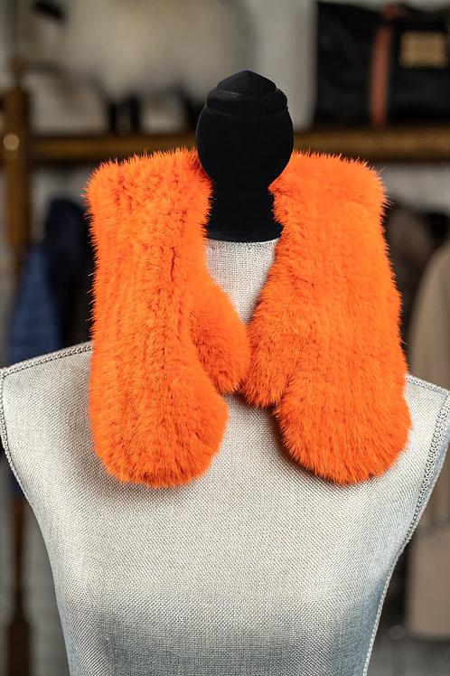 Rex Knit Mink Mittens
