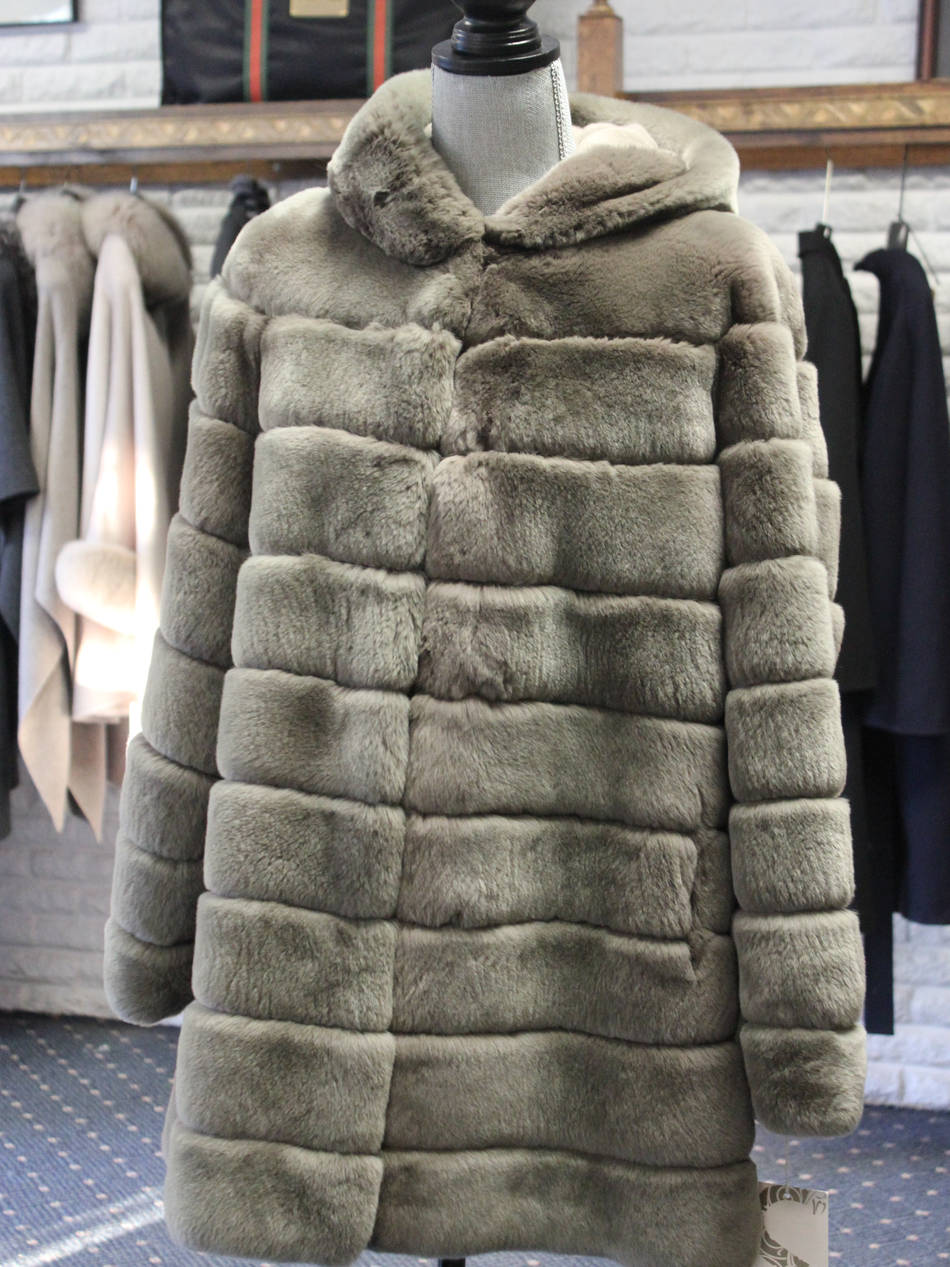 Taupe Rex Hooded Jacket