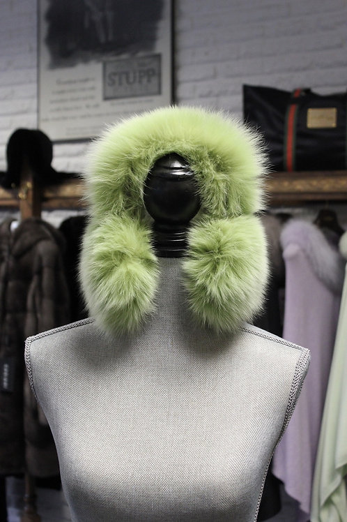 Lime Fox Earmuffs
