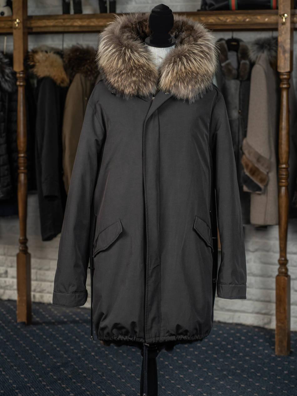 Italian Cloth Sable Lined Parka with Finn Raccoon Hooded