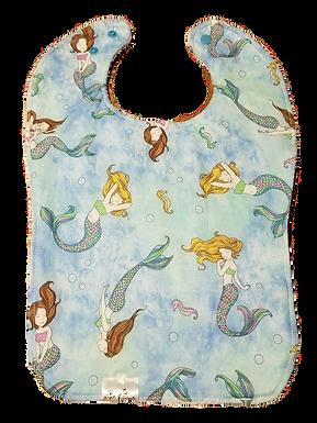 Bib Cotton & Terrycloth - Mermaids
