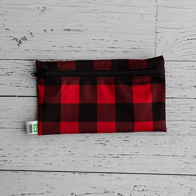 Reusable Snack Bag - Plaid (Red)