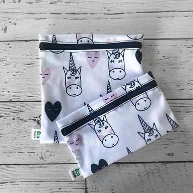 Lunch Bag Duo - Unicorn & Hearts