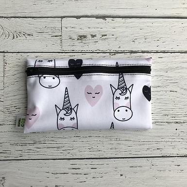 Reusable Snack Bag - Unicorns & Hearts