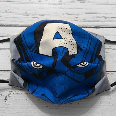 Reusable Face Mask - Captain America (Children)