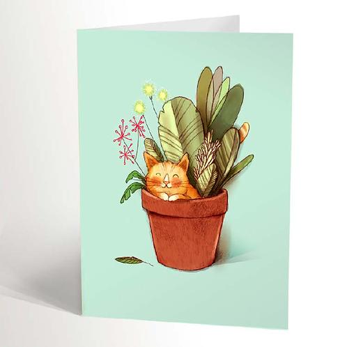 Hidden Cat Card