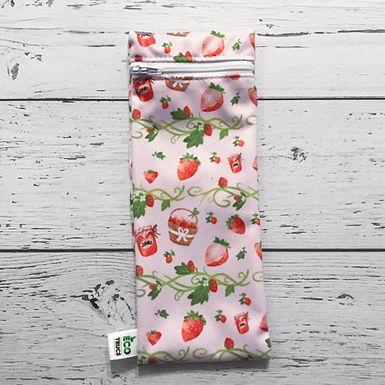 Utensil/Toothbrush Bag - Strawberry (Small)