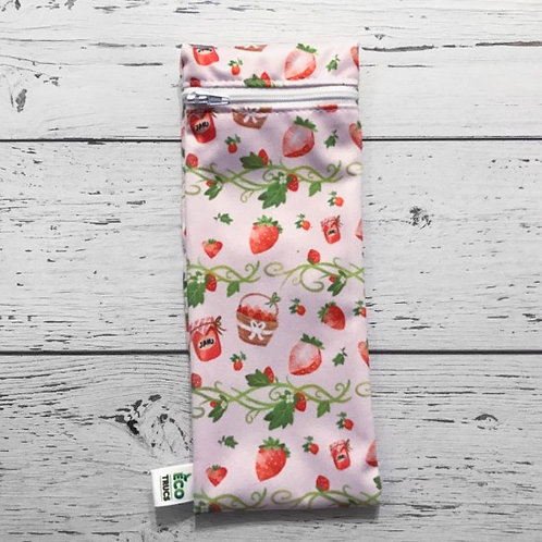 Utensil/Toothbrush Bag - Strawberry (Small)