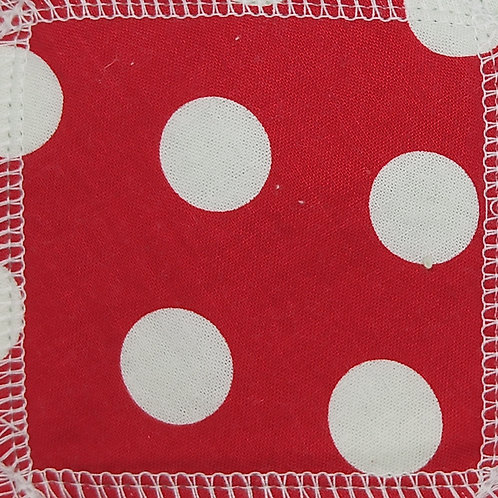 Makeup Remover Pads - White Dots On Red Background