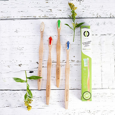 Bamboo Toothbrush - Adult (Pack of 4)