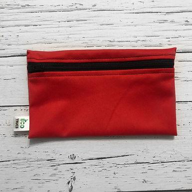 Reusable Snack Bag - Red & Black Zipper