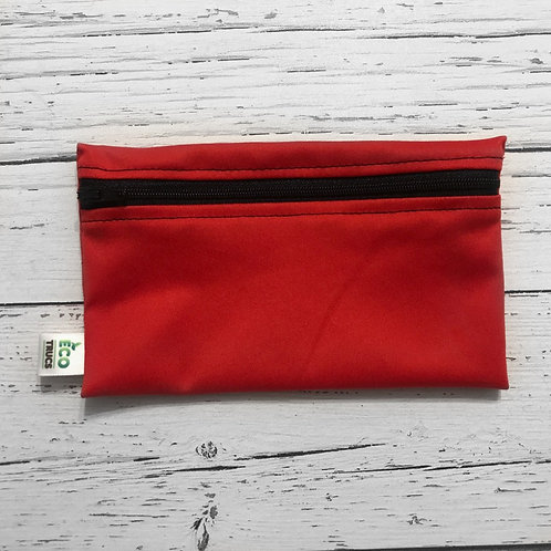 Reusable Snack Bag - Red & Black Zipper